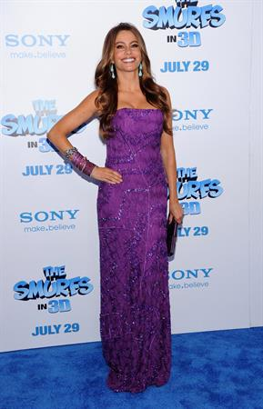 Sofia Vergara at The Smurfs World Premiere on July 24, 2011