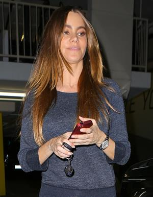 Sofia Vergara booty leaving a gym in Beverly Hills 11/7/12