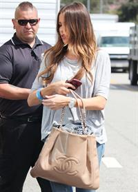 Sofia Vergara is escorted to her car, after filming a segment of   Modern Family  at The Grove in Los Angeles - 07 August 2012