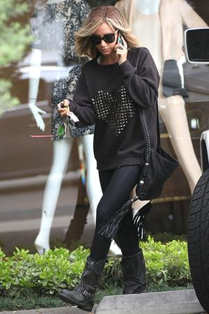 Ashley Tisdale goes shopping in West Hollywood on April 25, 2012