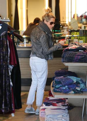 Ashley Tisdale shopping at Planet Blue in Beverly Hills 12/10/12