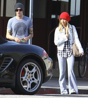 Ashley Tisdale leaving Kings Road Cafe in Studio City 12/9/12