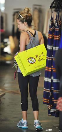 Ashley Tisdale shopping at Planet Blue in Beverly Hills July 30, 2012