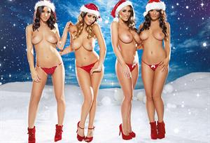 Lucy Pinder Nuts 2012 Christmas photoshoot