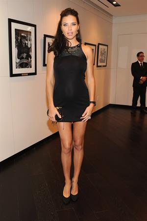 Adriana Lima IWC flagship boutique New York City grand opening on April 25, 2012