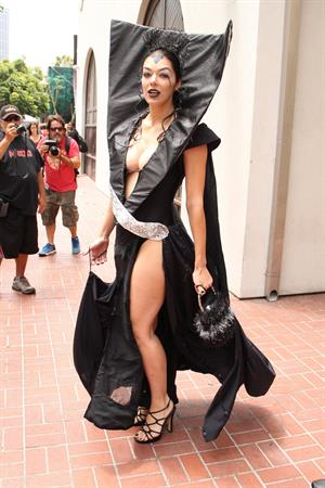 Adrianne Curry dressed as Lily from Legend during Comic-Con in San Diego - July 14, 2012