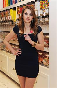 Aimee Teegarden at the Sugar Factory in Las Vegas on February 2, 2012