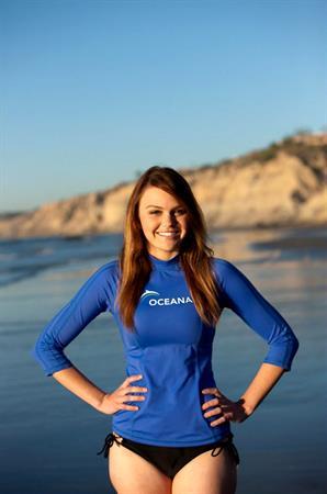 Aimee Teegarden shooting for Oceana