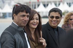Aishwarya Rai poses during a beach front photocall at the 64th Cannes Film Festival on May 13, 2011