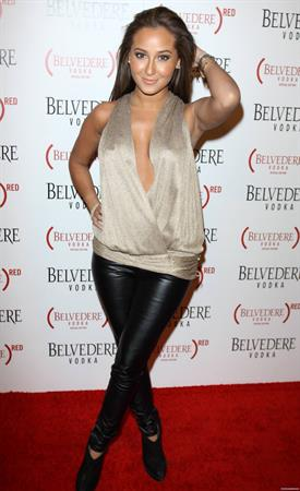 Adrienne Bailon Belvedere Red Special Edition Bottle Benefit Launch Party on February 10, 2011