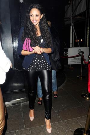 Alesha Dixon - London candids on March 3, 2012