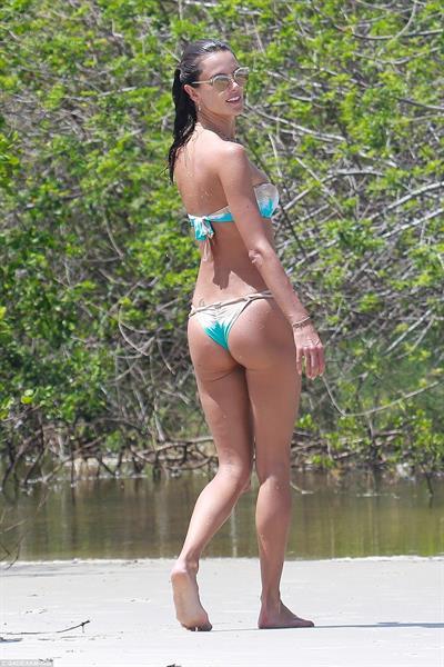Alessandra Ambrosio in a bikini - ass