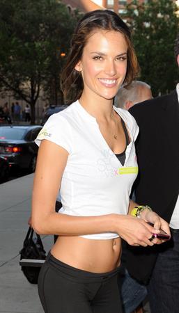 Alessandra Ambrosio in New York on July 12, 2011