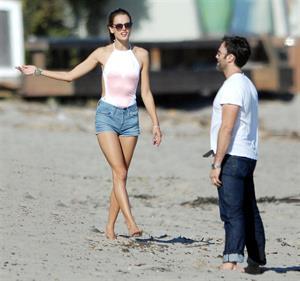Alessandra Ambrosio at Malibu Beach on May 29, 2011