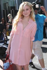 Alessandra Torresani outside comic con on July 21, 2011