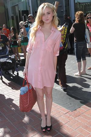 Alessandra Torresani outside comic con on July 21, 2011