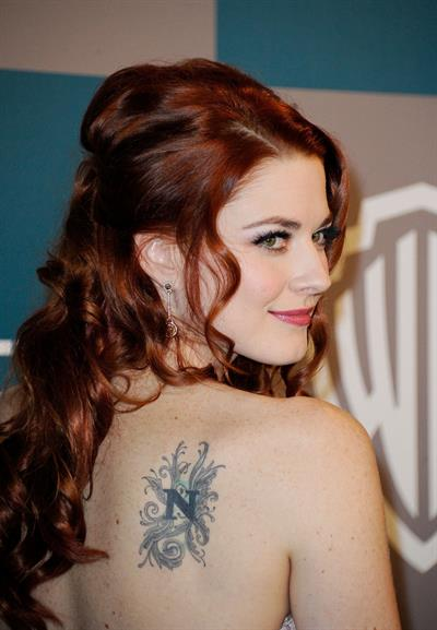 Alexandra Breckenridge 13th annual Warner Bros. and Instyle Golden Globe after party on January 15, 2012