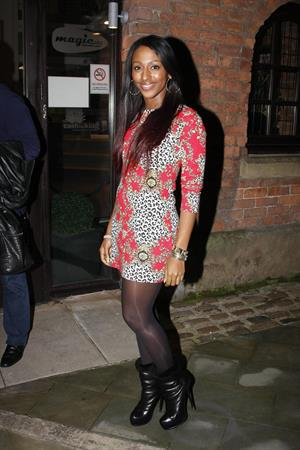 Alexandra Burke KEY 103 radio station in Manchester on February 28, 2012