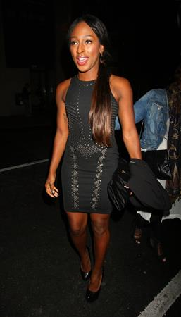 Alexandra Burke attending Cadbury Unwrap Gold launch party in East London on April 12, 2012