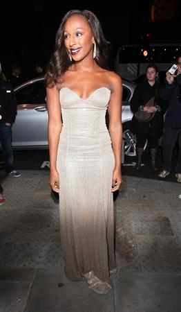Alexandra Burke attending the Cosmo Women of the Year Awards on October 2, 2010