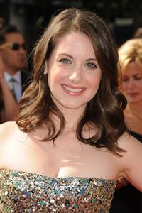 Alison Brie attends the 63rd Primetime Creative Arts Emmy Awards at the Nokia Theater in Los Angeles on September 10, 2011