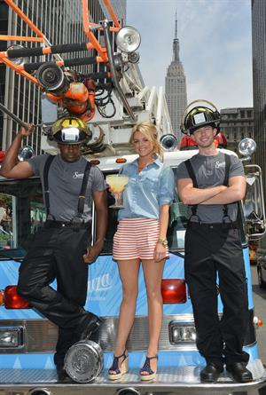 Ali Fedotowsky Sauza Tequila Make it with a Fireman launch event in New York City on June 18, 2012