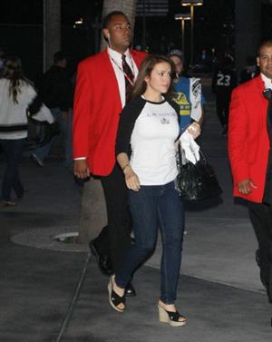 Alyssa Milano - At the LA Kings' game - June 11, 2012