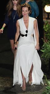 Amanda Holden leaving BGT semi finals on May 8, 2012