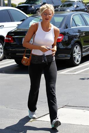 Amanda Michalka on the way to gym in Calabasas on July 8, 2011