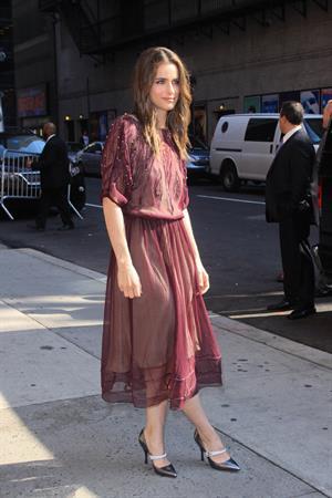 Amanda Peet arriving for David Letterman appearance on March 13, 2012