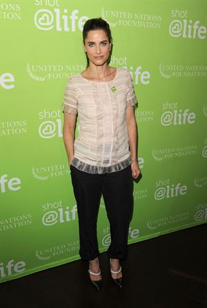 Amanda Peet's mothers day message nyc 11 05 12