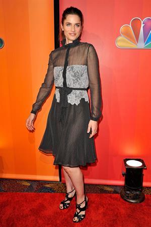 Amanda Peet 2011 NBC upfront at the Hilton hotel in New York City on May 16, 2011
