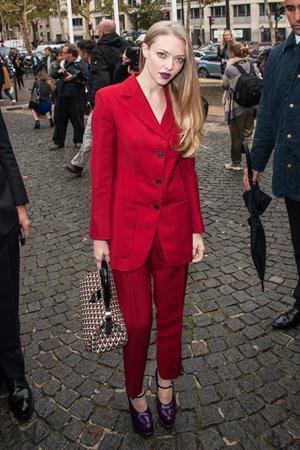 Amanda Seyfried attending Miu Miu show in Paris - October 3, 2012