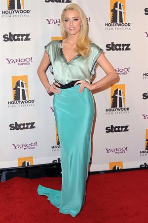 Amber Heard 15th annual Hollywood Film Awards Gala on October 24, 2011