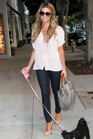 Amber Lancaster out about Beverly Gills 08.10.11