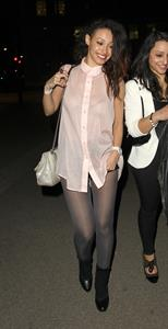 Amelle Berrabah leaving the Tose Club in London on May 7, 2012