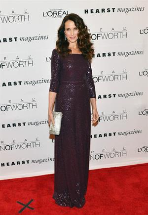 Andie MacDowell  Seventh Annual Women of Worth Awards at Hearst Tower in New York  December 6-2012