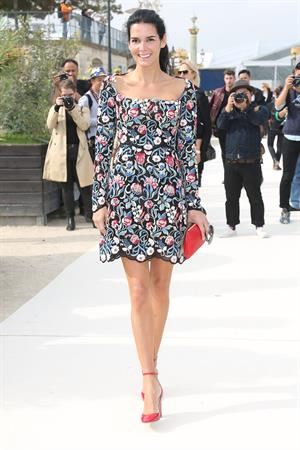 Angie Harmon Valentino fashion show at Paris Fashion Week on Oct. 1, 2013