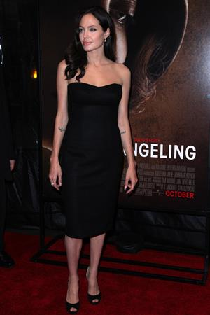 Angelina Jolie at New York film festival Centerpiece Screening of The Changeling