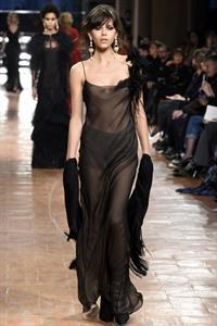 Georgia Fowler - See through top at Milan Fashion Week