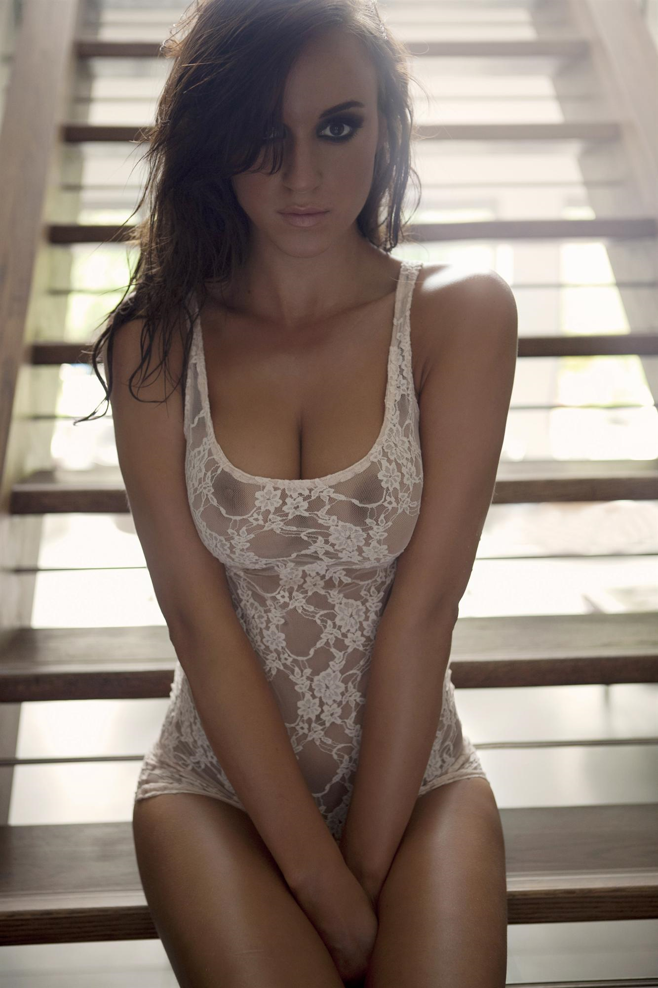 Rosie Jones in lingerie - breasts