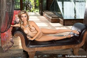 Playboy Cybergirl Anika Shay Nude with a fan