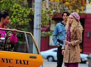 AnnaSophia Robb set of The Carrie Diaries in NYC 10/26/12