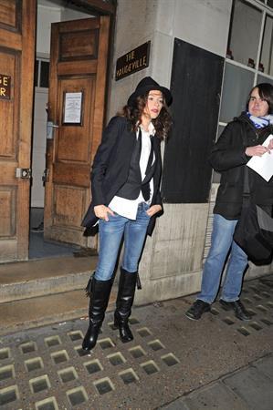 Anna Friel Leaving Vaudeville Theatre,London - October 27, 2012