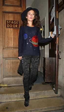 Anna Friel Vaudeville Theatre in London - November 6, 2012