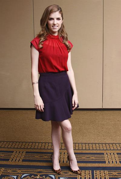 Anna Kendrick Munawar Hosain  End Of Watch  press conference portraits 9/10/12
