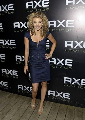 AnnaLynne McCord partying at the fourth of July celebration at Axe Lounge in Southampton New York
