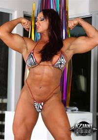 Amber Deluca in a bikini - breasts