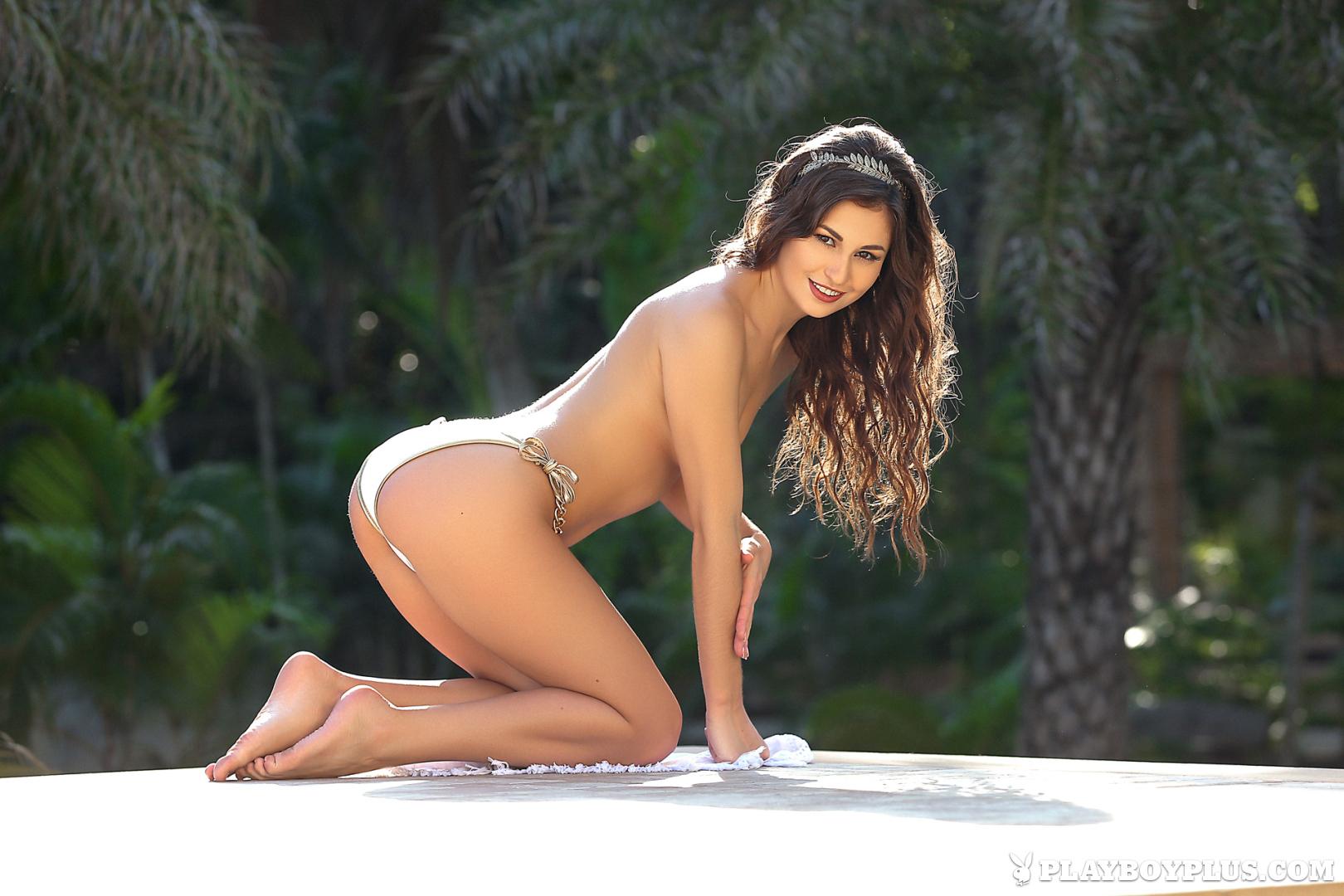 Playboy Cybergirl Demi Fray Nude outside