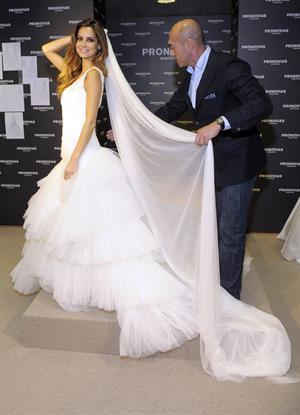 Ariadne Artiles presents Pronovias 2011 collection in Barcelona Spain on May 17, 2010
